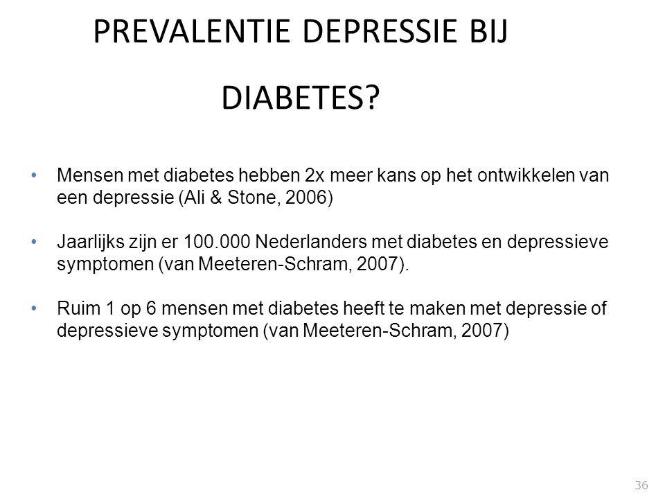 PREVALENTIE DEPRESSIE BIJ DIABETES