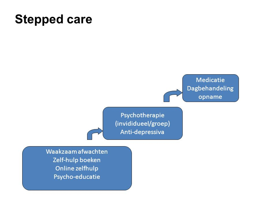 Stepped care Medicatie Dagbehandeling opname Psychotherapie