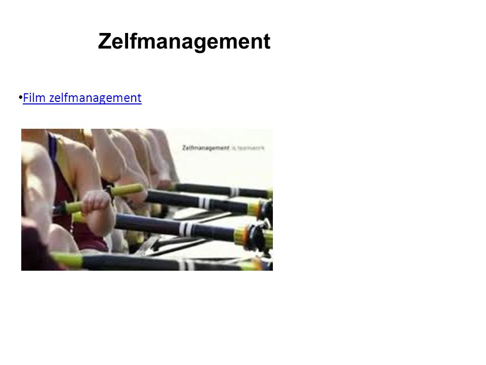 Zelfmanagement Film zelfmanagement