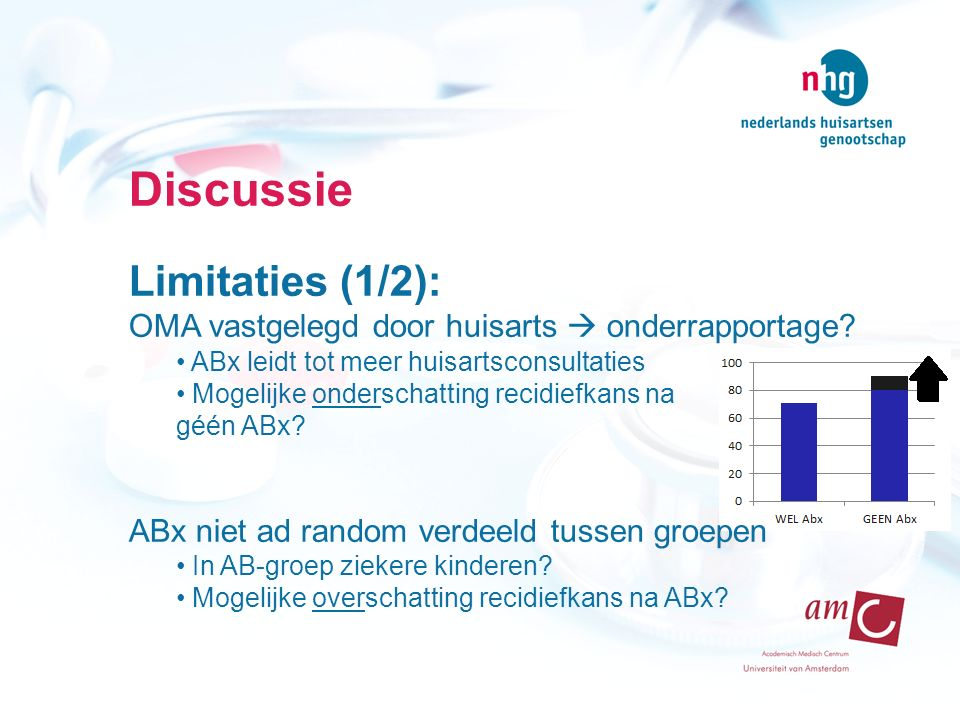 Discussie Limitaties (1/2):