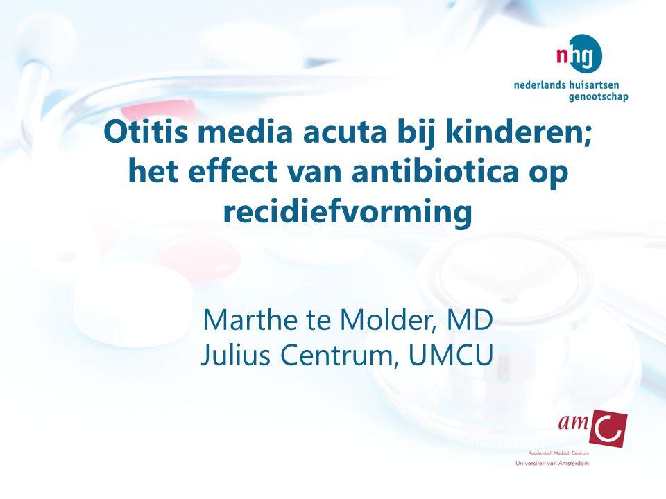 Otitis media acuta bij kinderen; het effect van antibiotica op recidiefvorming