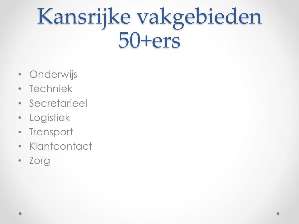 Kansrijke vakgebieden 50+ers