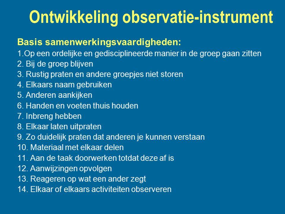 Ontwikkeling observatie-instrument
