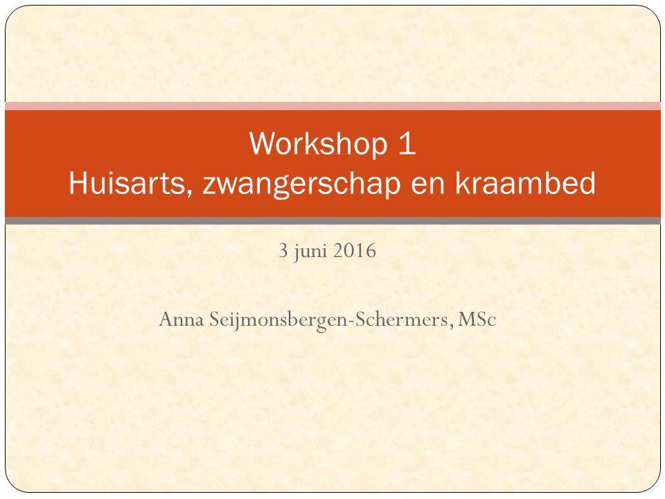 Workshop 1 Huisarts, zwangerschap en kraambed