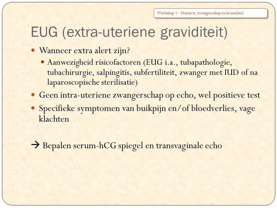 EUG (extra-uteriene graviditeit)