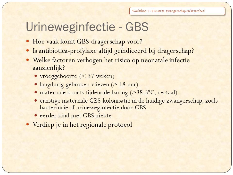 Urineweginfectie - GBS
