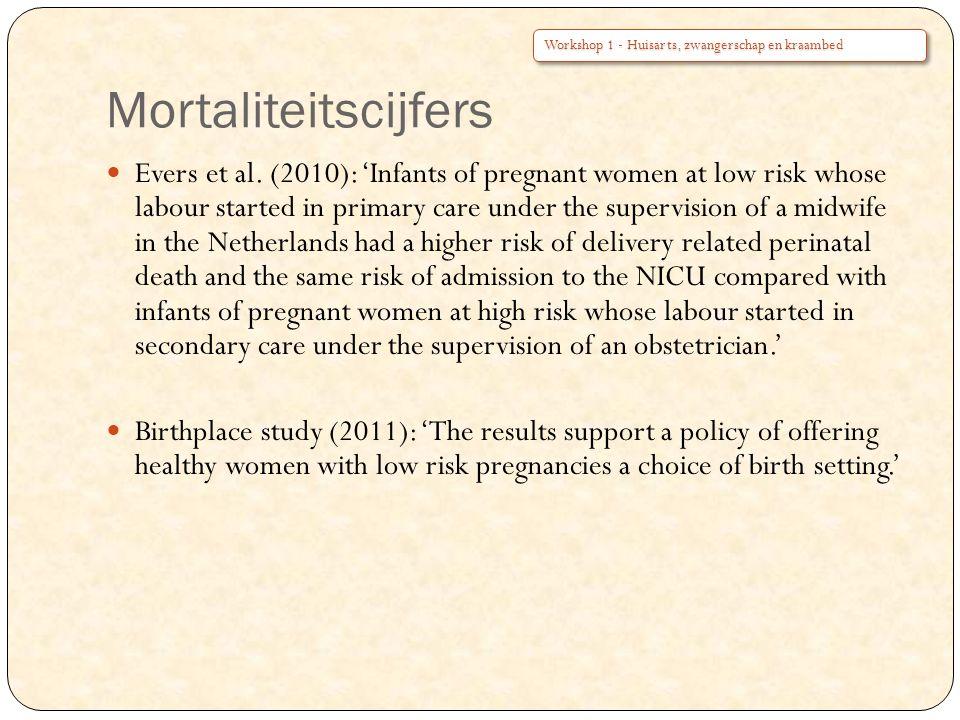 Mortaliteitscijfers Workshop 1 - Huisarts, zwangerschap en kraambed.