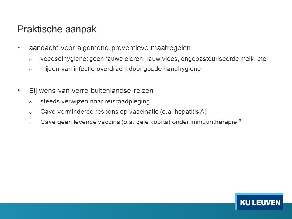 Praktische aanpak aandacht voor algemene preventieve maatregelen