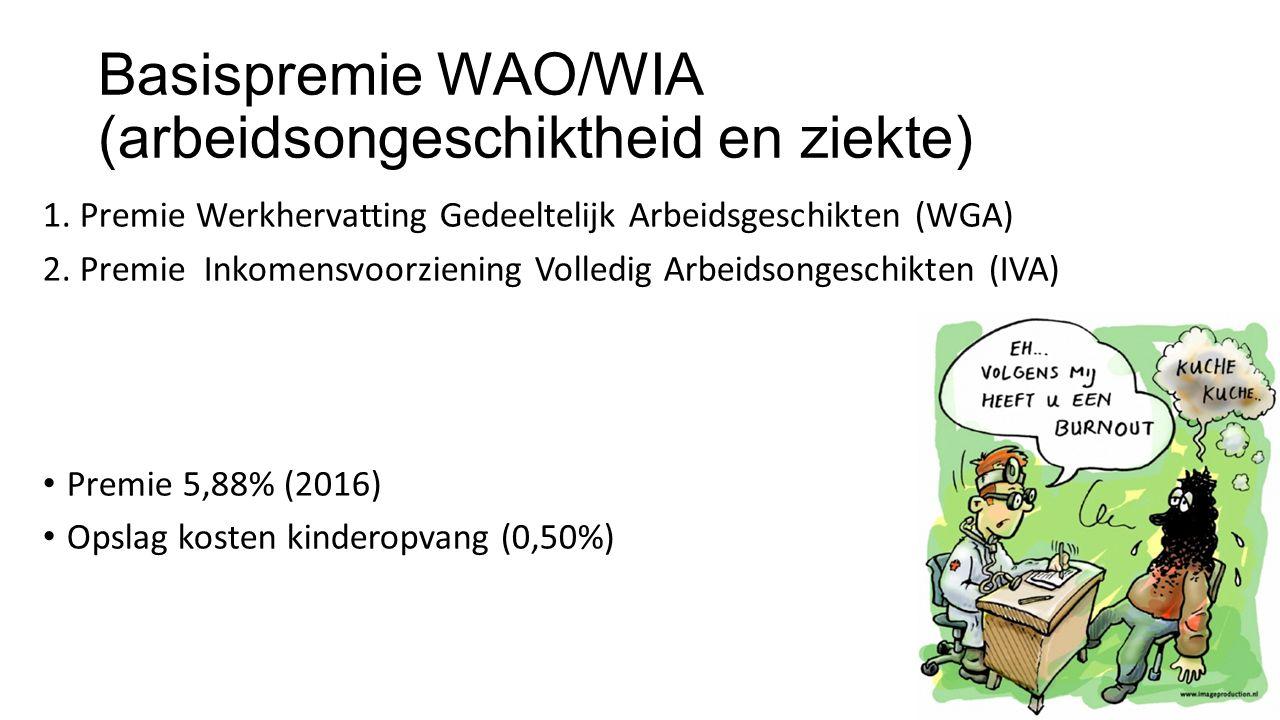 Basispremie WAO/WIA (arbeidsongeschiktheid en ziekte)
