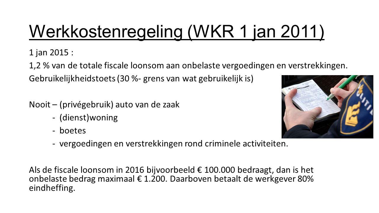 Werkkostenregeling (WKR 1 jan 2011)