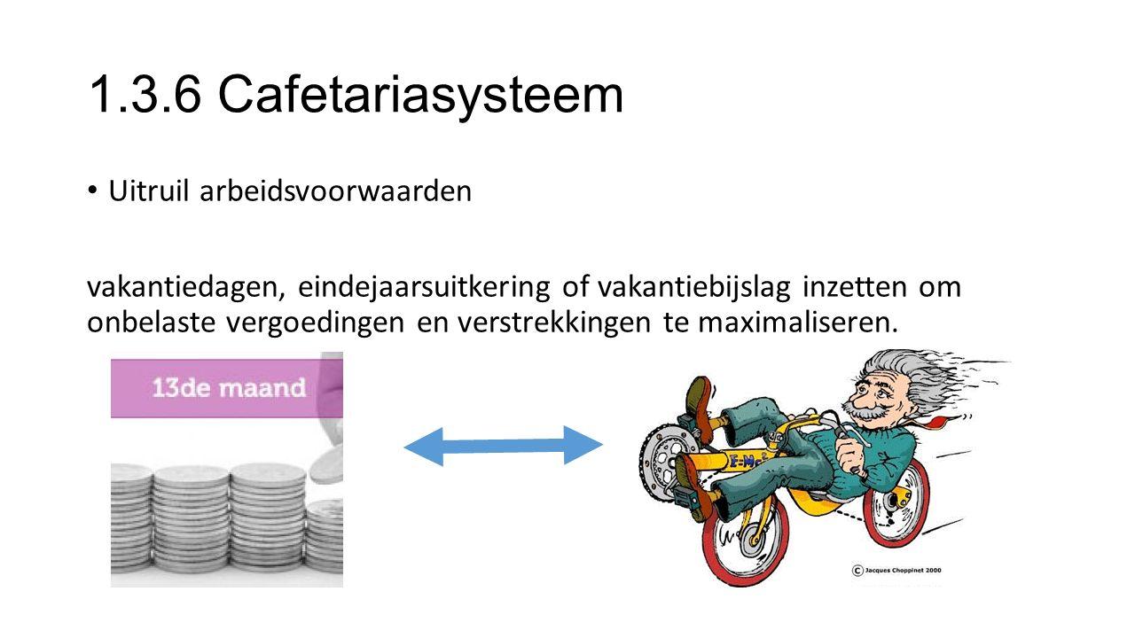 1.3.6 Cafetariasysteem Uitruil arbeidsvoorwaarden