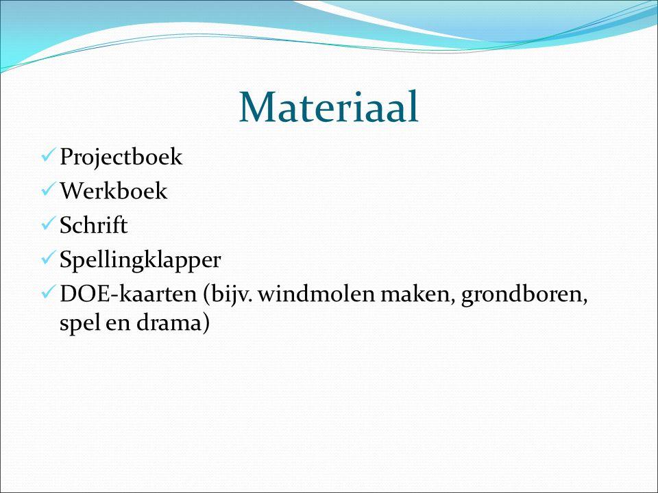 Materiaal Projectboek Werkboek Schrift Spellingklapper