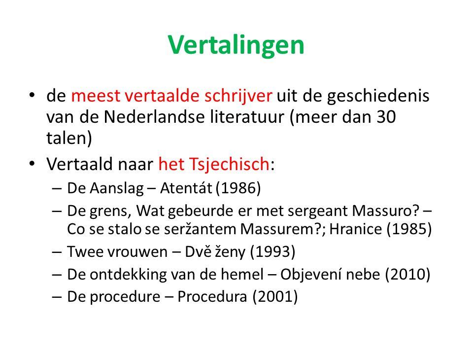 Vertalingen de meest vertaalde schrijver uit de geschiedenis van de Nederlandse literatuur (meer dan 30 talen)