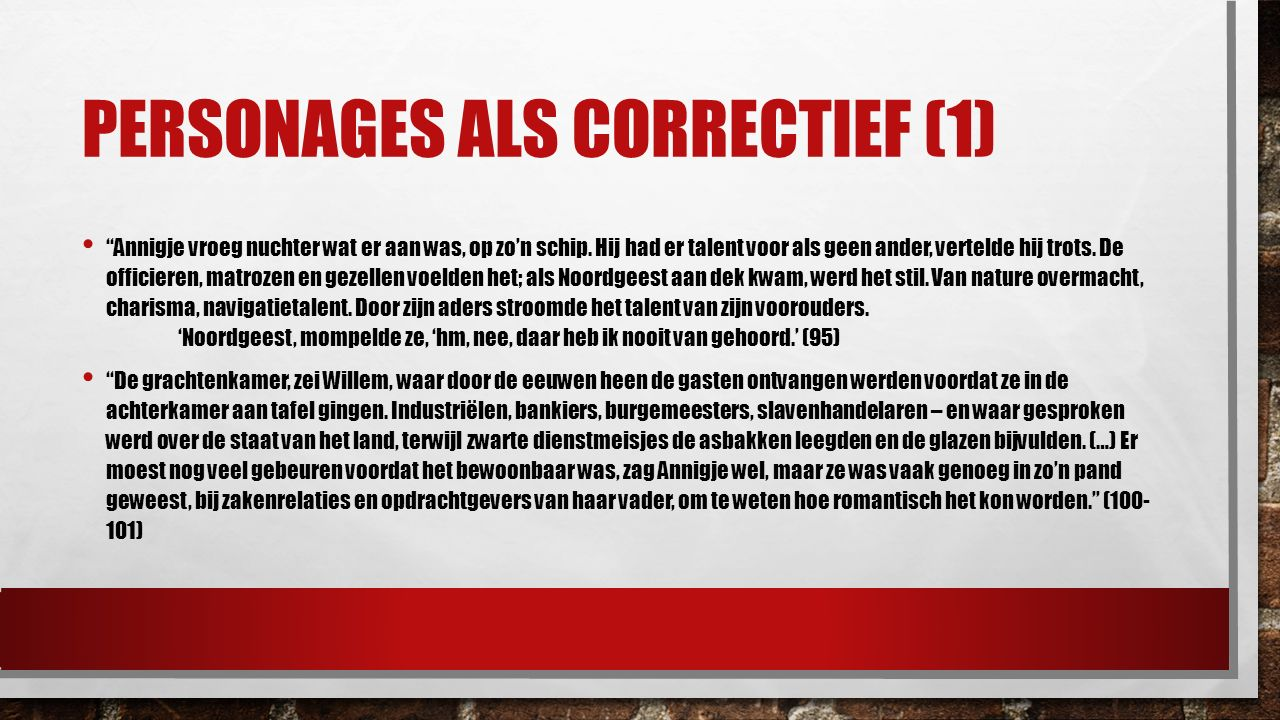 Personages als correctief (1)