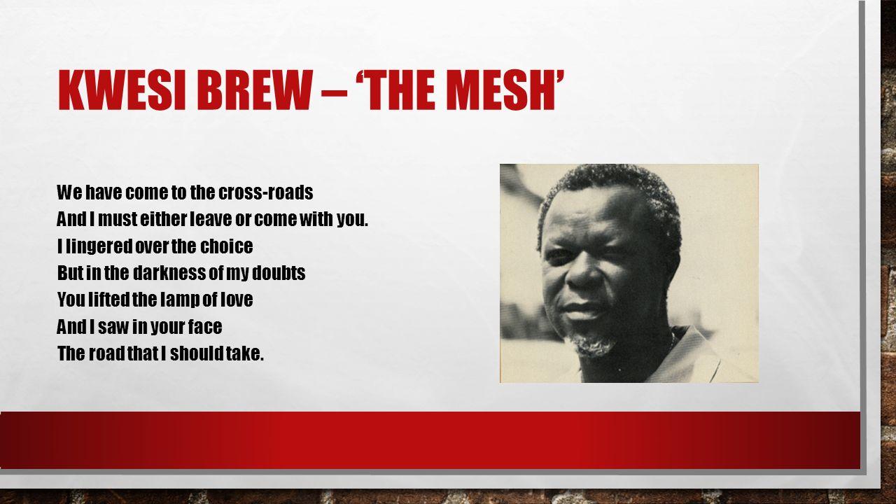 Kwesi brew – 'The mesh'