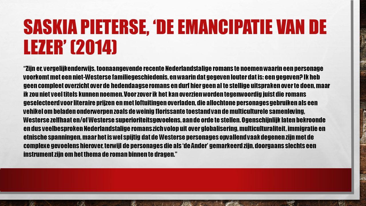 Saskia pieterse, 'de emancipatie van de lezer' (2014)
