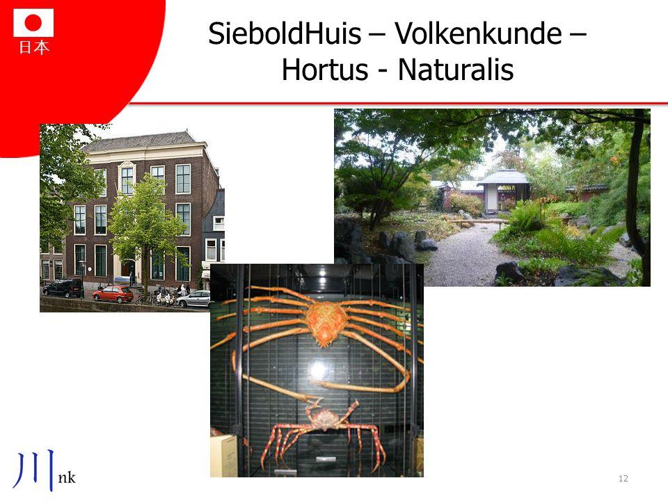 SieboldHuis – Volkenkunde – Hortus - Naturalis