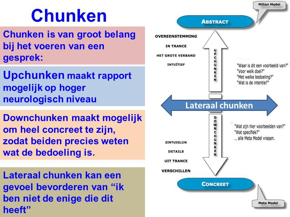 Chunken Upchunken maakt rapport mogelijk op hoger neurologisch niveau