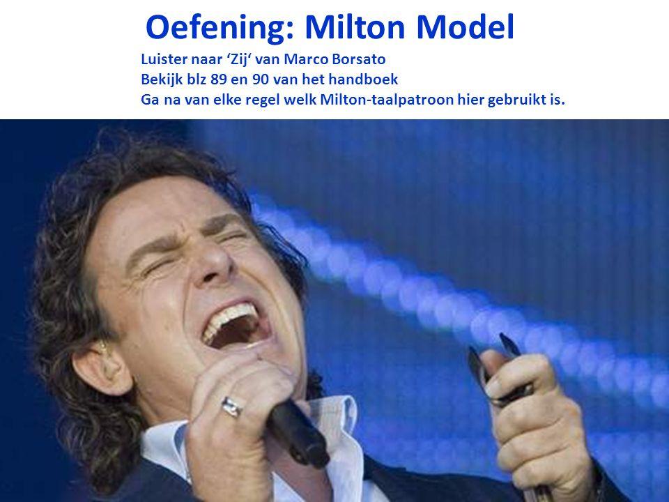 Oefening: Milton Model