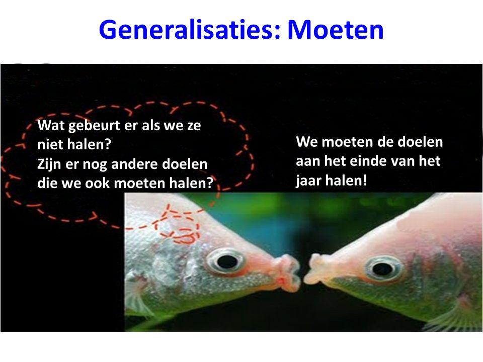 Generalisaties: Moeten