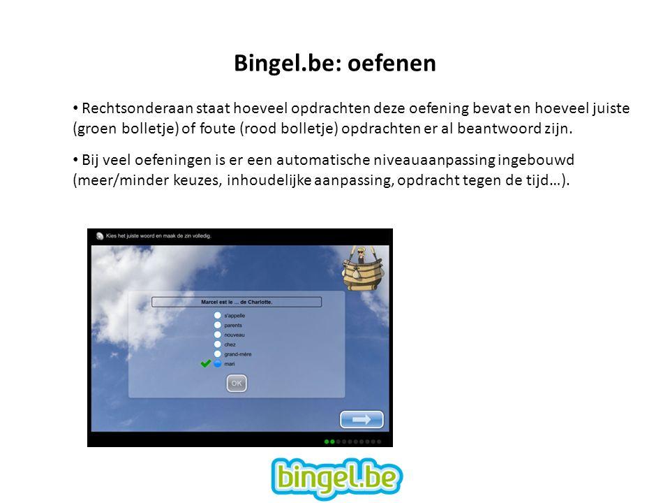 Bingel.be: oefenen