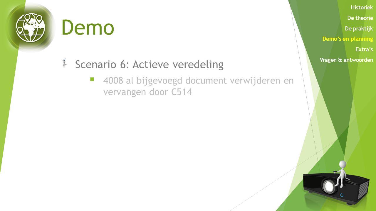Demo Scenario 6: Actieve veredeling