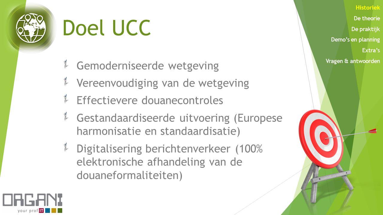 Doel UCC Gemoderniseerde wetgeving Vereenvoudiging van de wetgeving