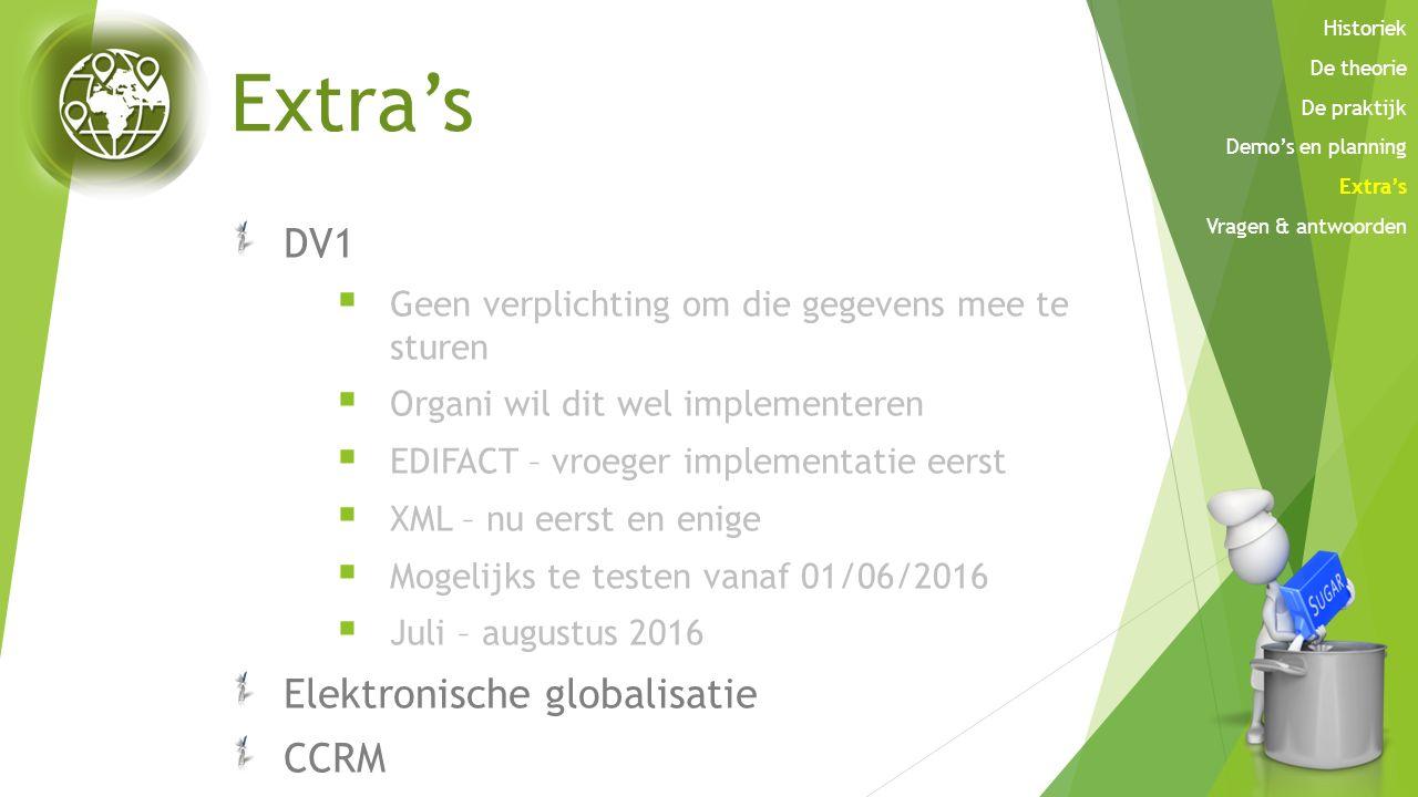 Extra's DV1 Elektronische globalisatie CCRM
