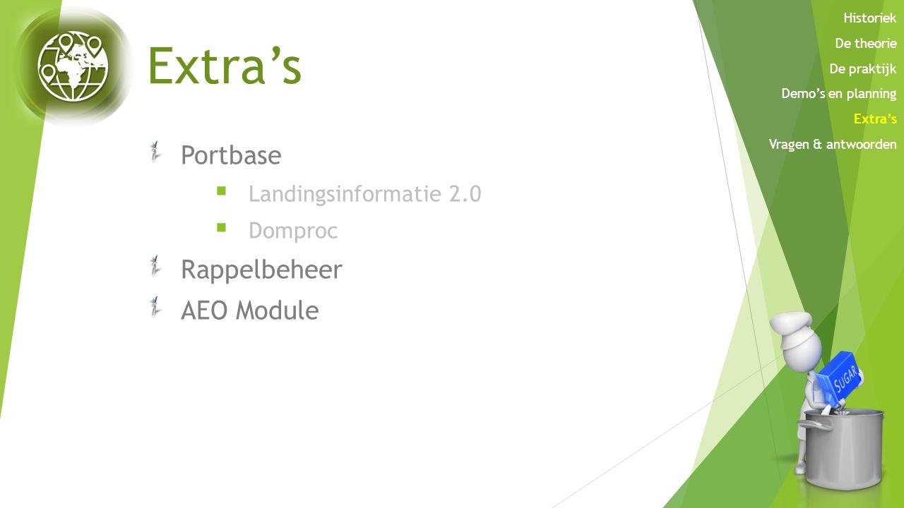 Extra's Portbase Rappelbeheer AEO Module Landingsinformatie 2.0
