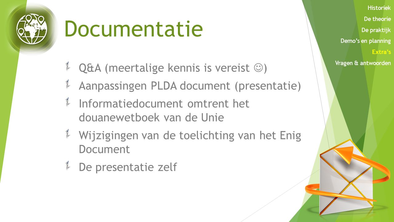 Documentatie Q&A (meertalige kennis is vereist )