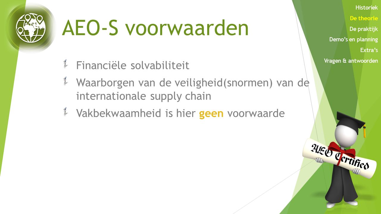 AEO-S voorwaarden Financiële solvabiliteit