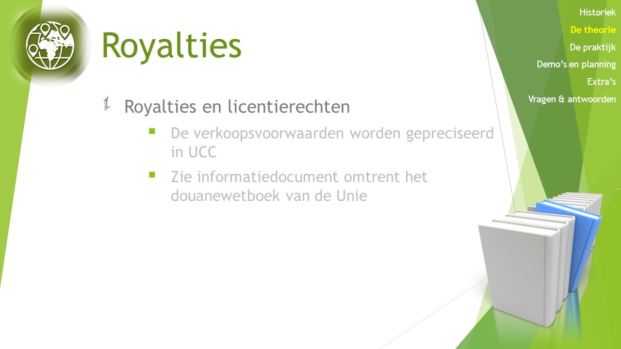Royalties Royalties en licentierechten