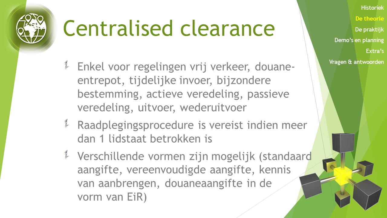 Centralised clearance
