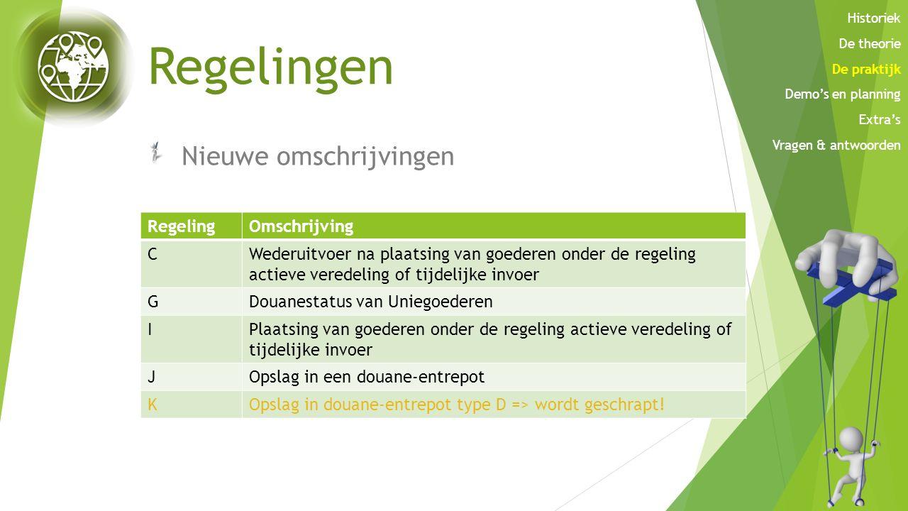 Regelingen Nieuwe omschrijvingen Regeling Omschrijving C