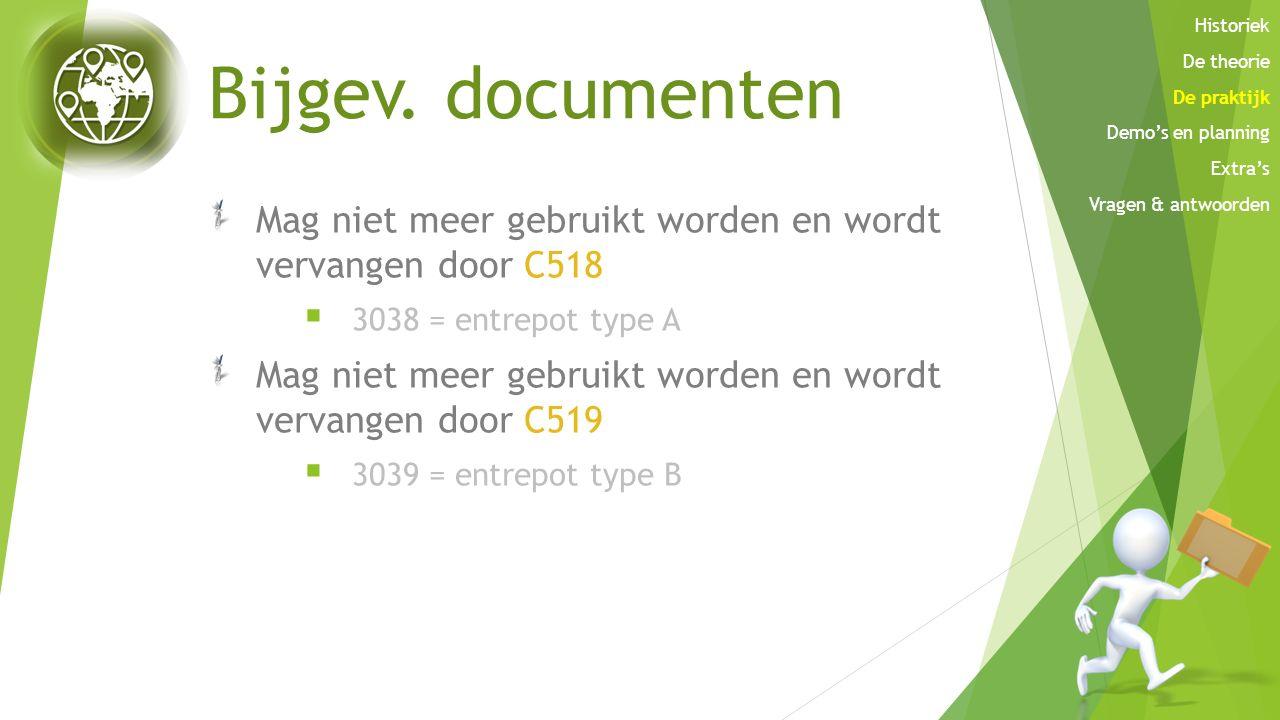Historiek De theorie. De praktijk. Demo's en planning. Extra's. Vragen & antwoorden. Bijgev. documenten.
