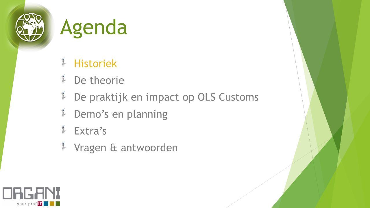 Agenda Historiek De theorie De praktijk en impact op OLS Customs