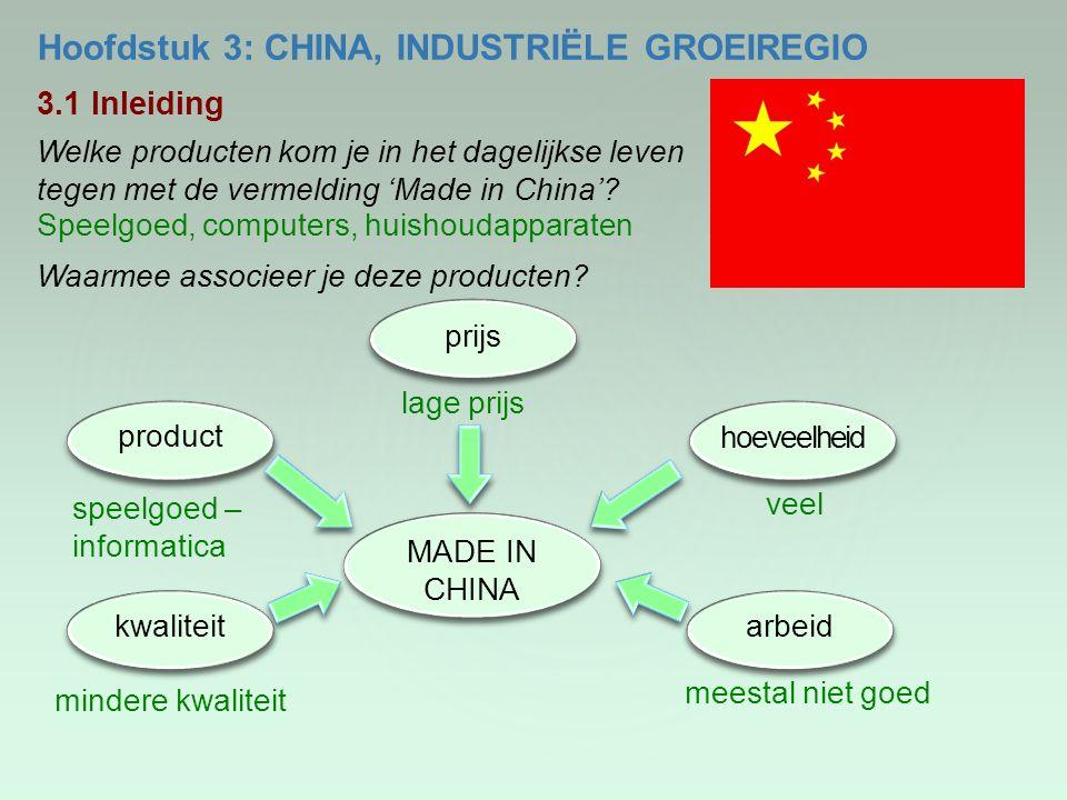 Hoofdstuk 3: CHINA, INDUSTRIËLE GROEIREGIO