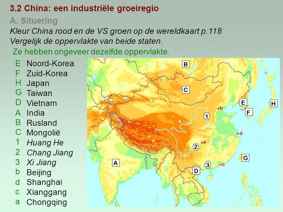 3.2 China: een industriële groeiregio A. Situering