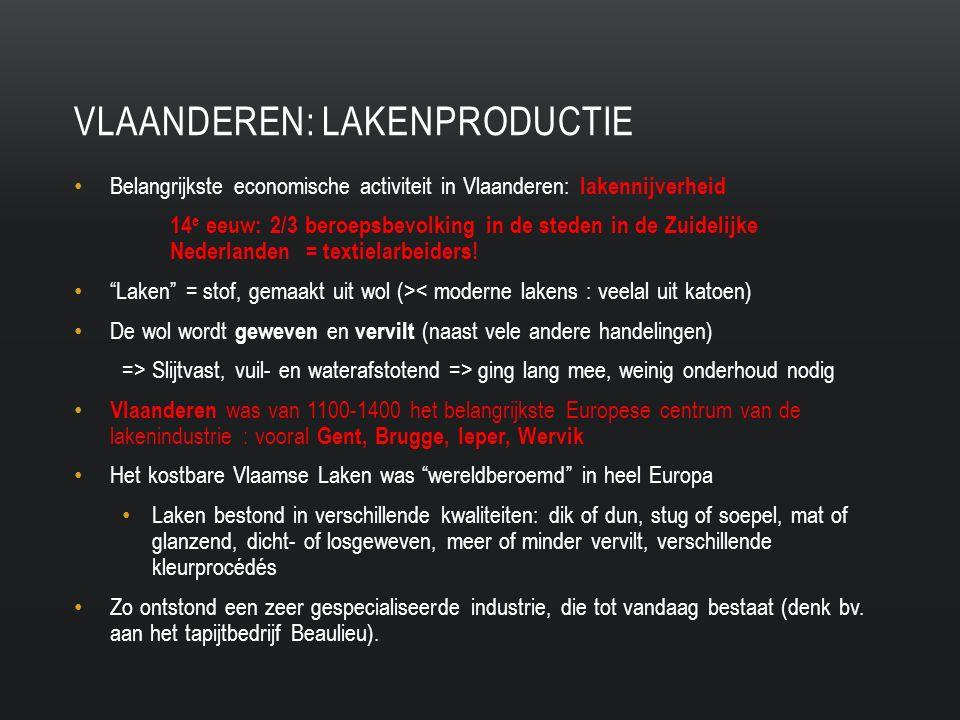 Vlaanderen: lakenproductie