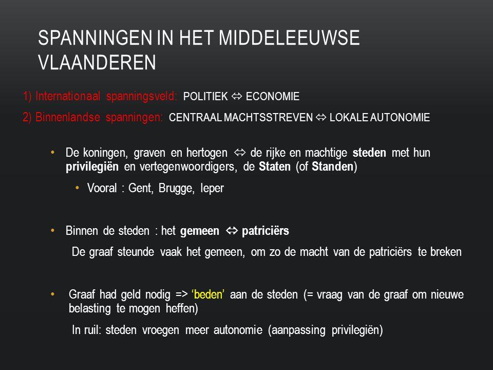 Spanningen in Het middeleeuwse Vlaanderen