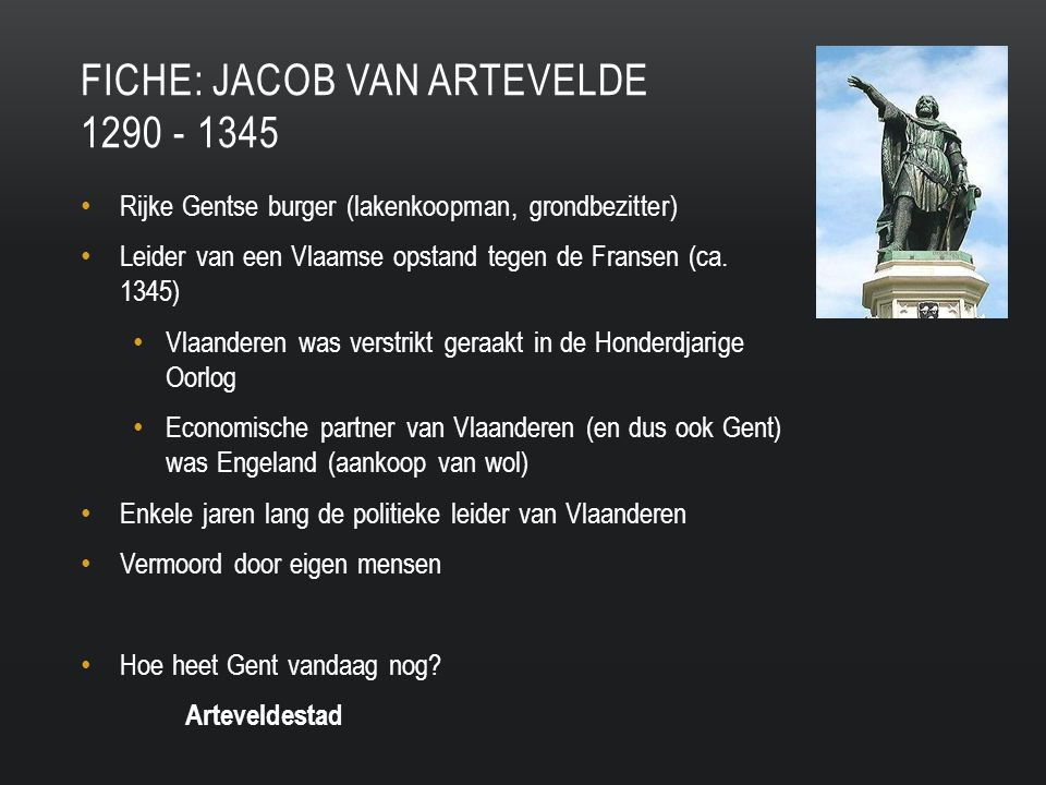 Fiche: Jacob van artevelde