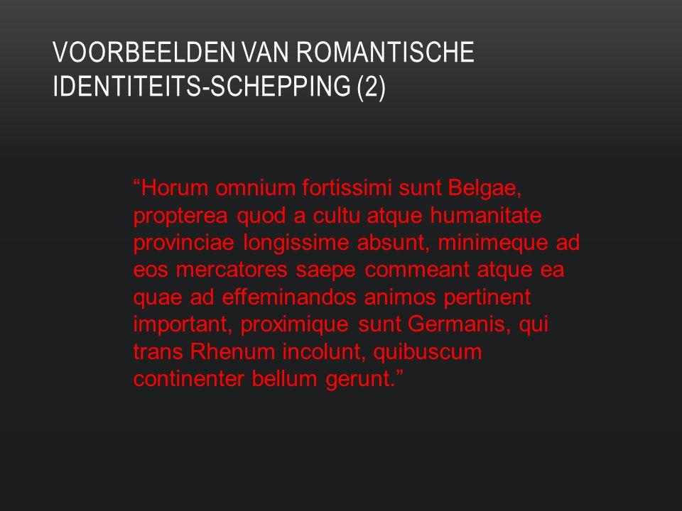 voorbeelden van romantische identiteits-schepping (2)