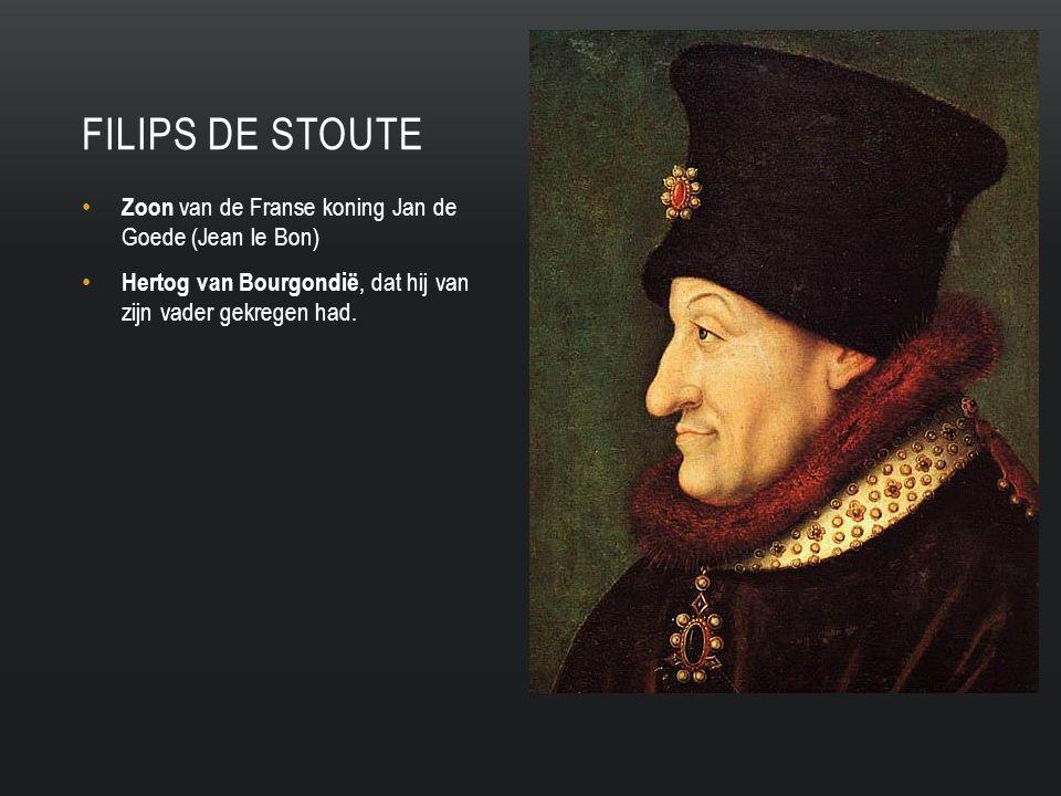 Filips de stoute Zoon van de Franse koning Jan de Goede (Jean le Bon)