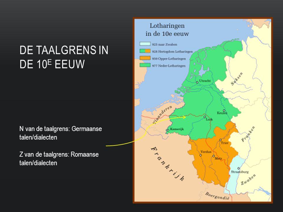 de taalgrens in de 10e eeuw