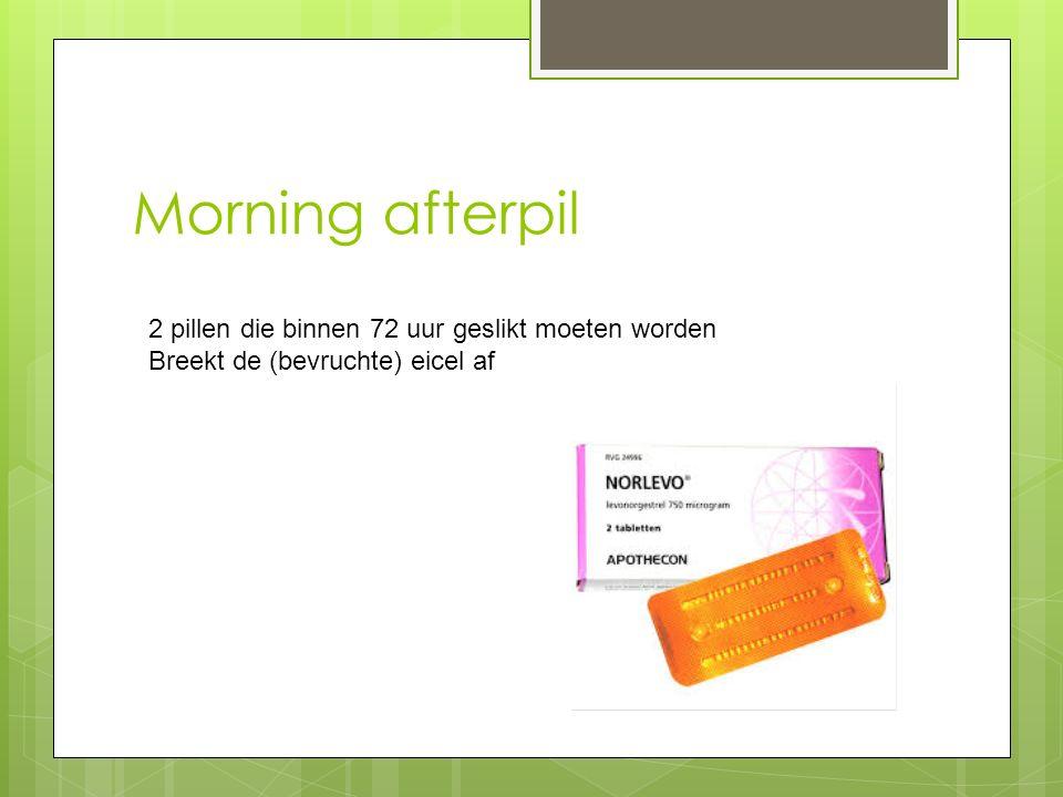 Morning afterpil 2 pillen die binnen 72 uur geslikt moeten worden