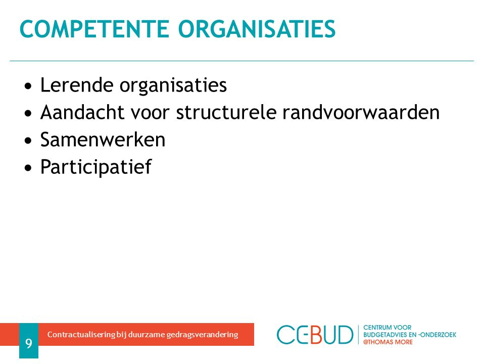 competente organisaties