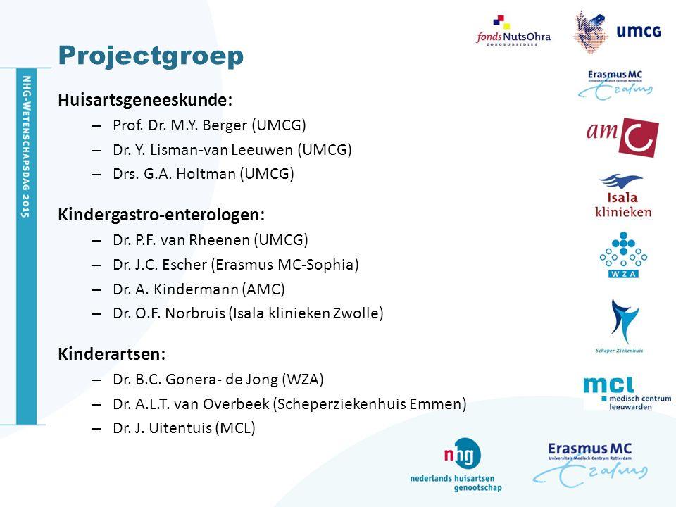 Projectgroep Huisartsgeneeskunde: Kindergastro-enterologen: