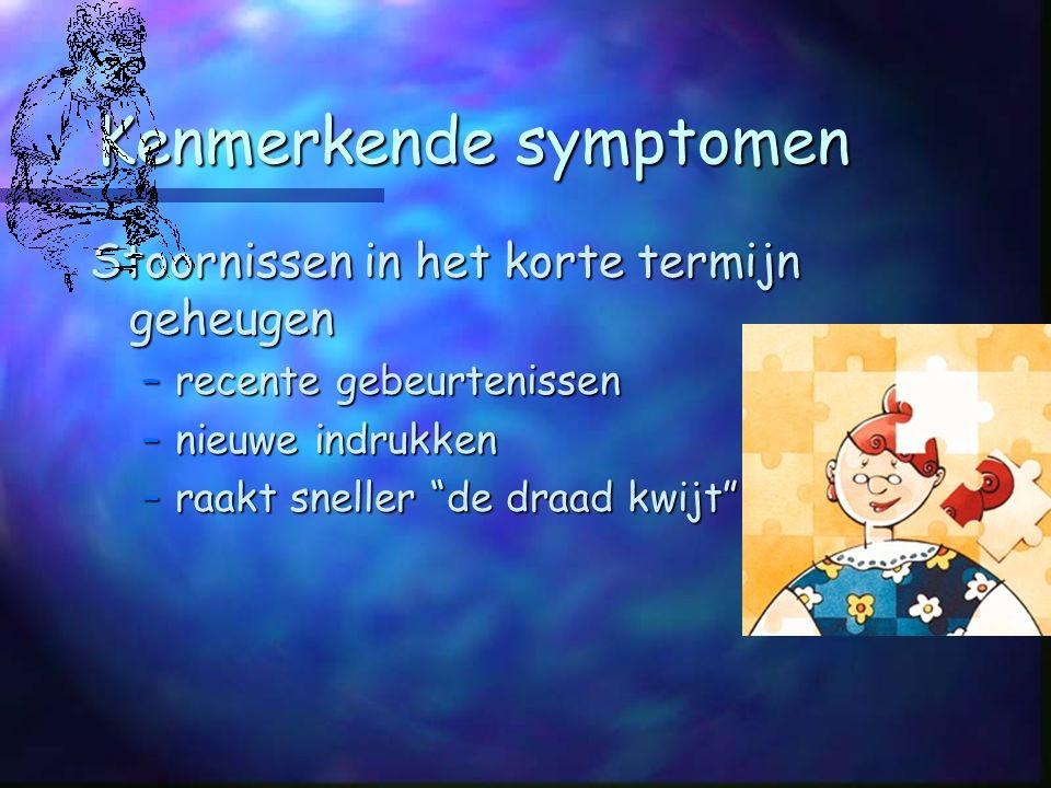 Kenmerkende symptomen