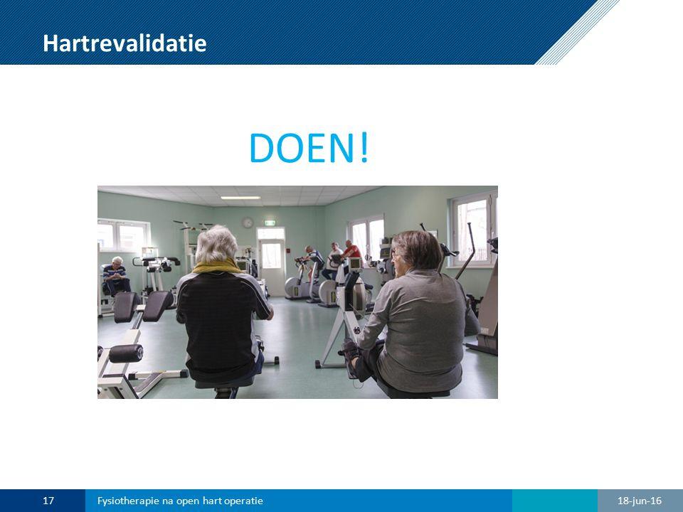 Hartrevalidatie DOEN! Fysiotherapie na open hart operatie 28-apr-17
