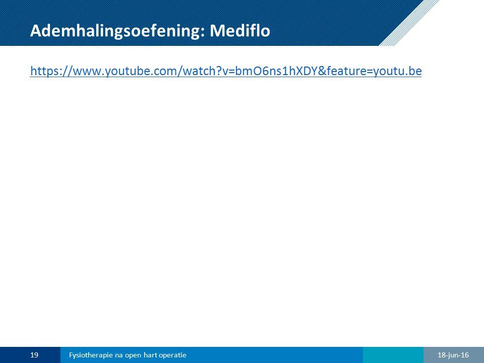 Ademhalingsoefening: Mediflo